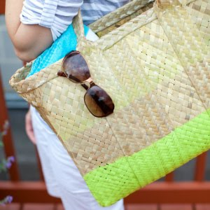 Summer Project: Paint Dipped Beach Tote