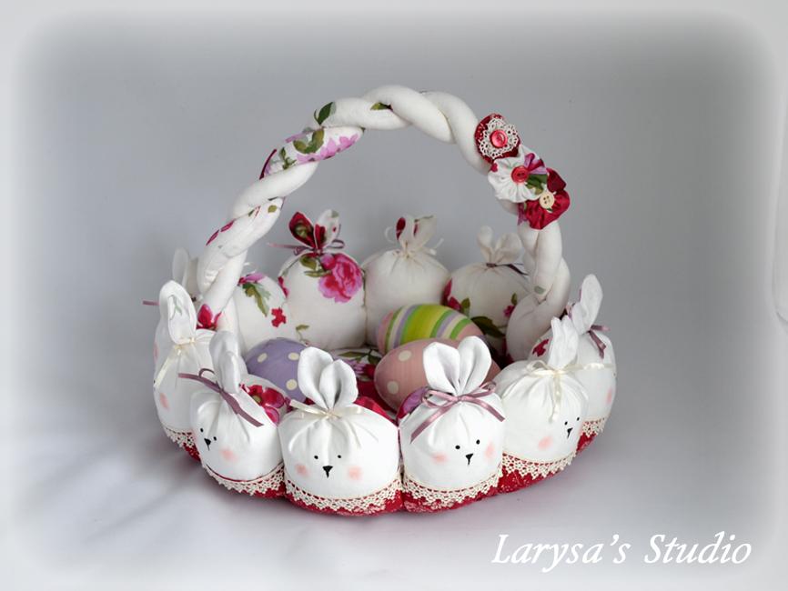 корзинка зайцы