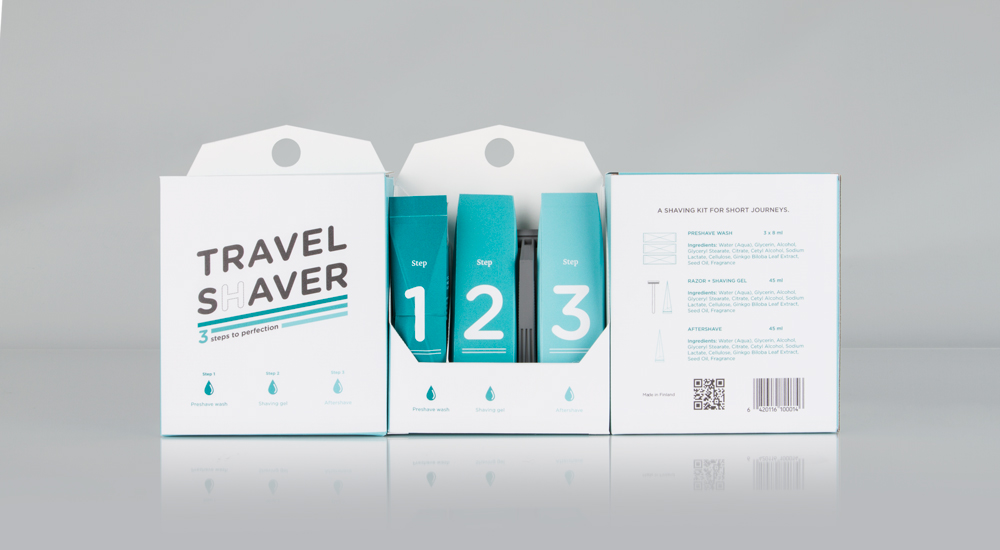 Travel Shaver Concept On Packaging Of The World