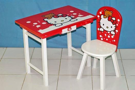 meja belajar anak perempuan hello kitty