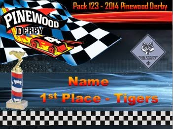 pinewood derby award certificate template - Pinewood Derby Certificate Templates