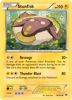 Stunfisk BREAKthrough Pokemon Card
