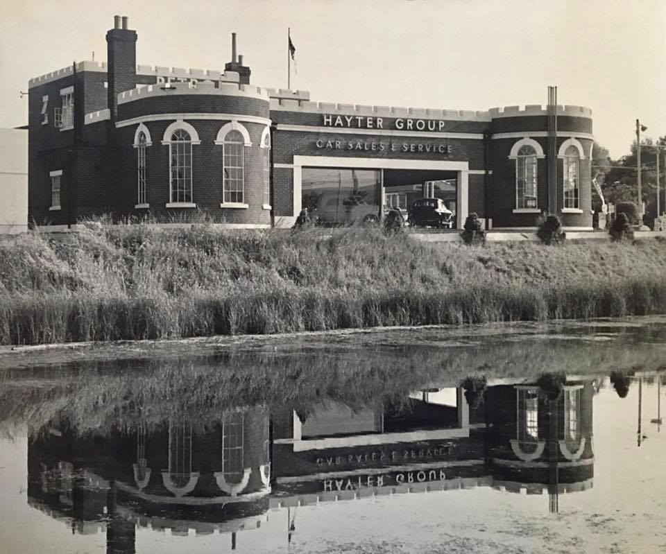 The Bastion Tea Rooms as was now car sales