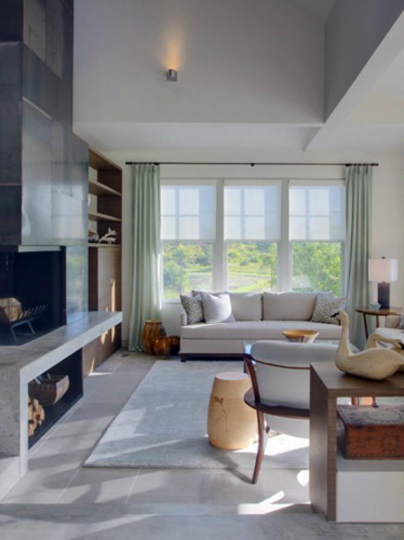Coastal modern Nantucket living room