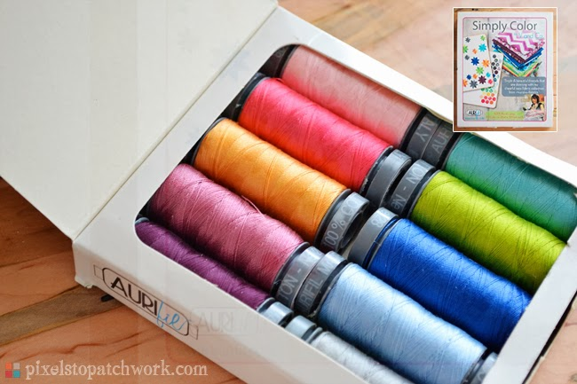 aurifil simply color 28wt thread