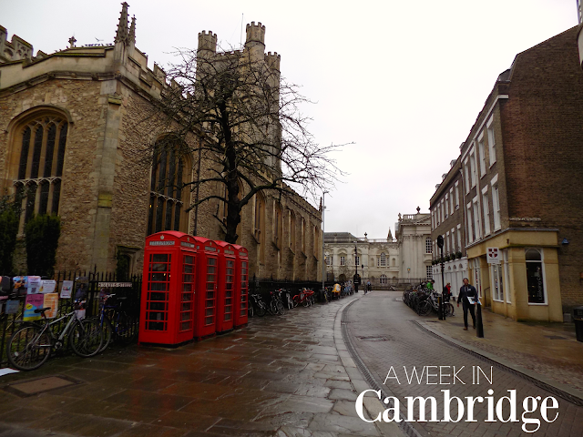 A week in Cambridge!
