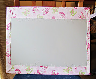 image covering sheet metal with fabric reverse side
