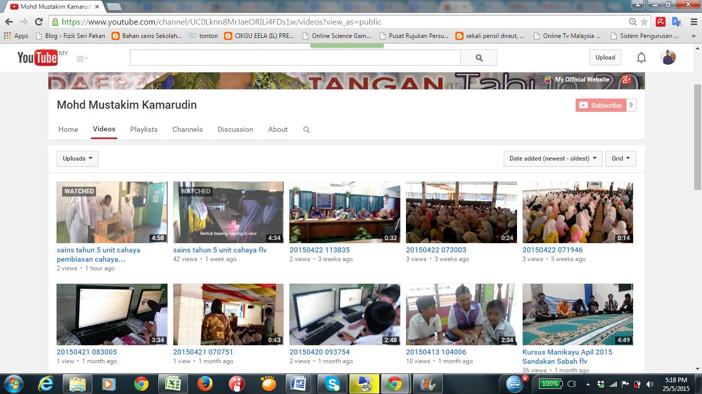 My Youtube Cikgu Mustakim