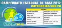 CAMPEONATO ESTADUAL SUB 20 - 2012