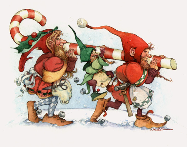 DECK THE HOLIDAY'S: THE SECRET LIFE OF CHRISTMAS ELVES!