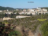 Cal Marçal vist des de la cruïlla amb el Camí de la Gravera