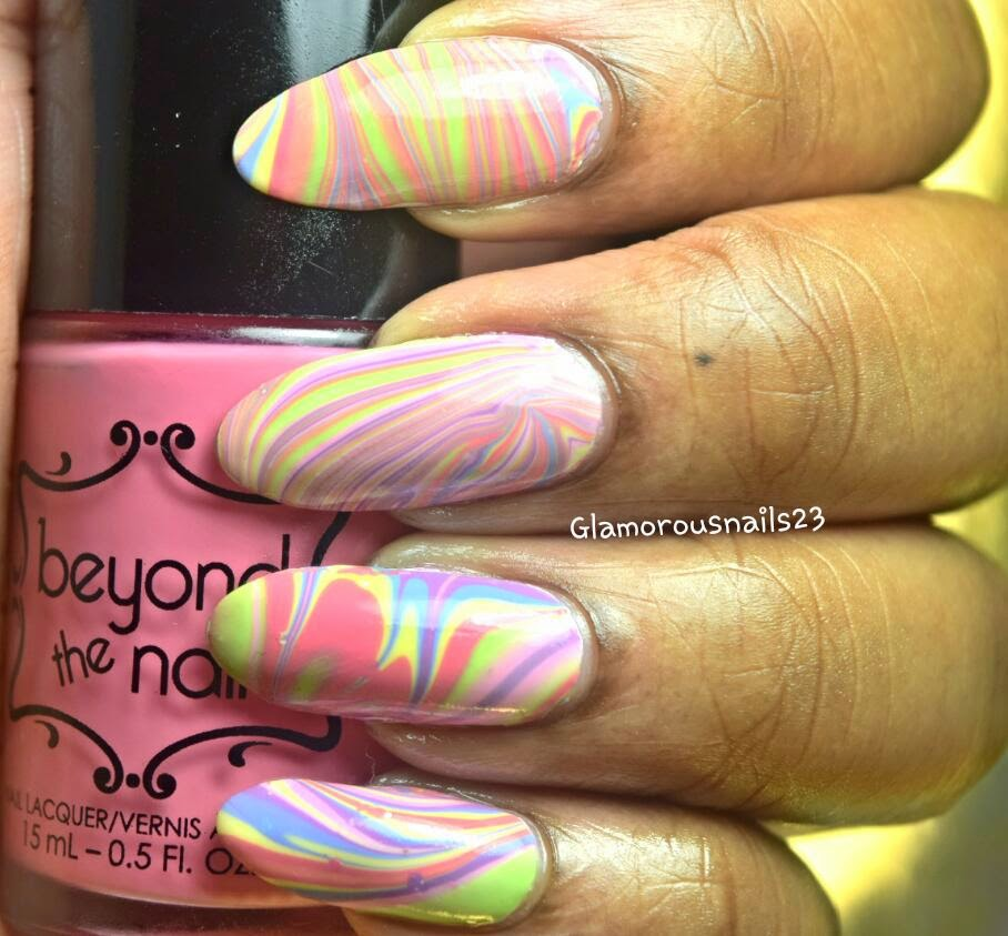 Watermarble Using Beyond The Nail Spring 2015 Collection