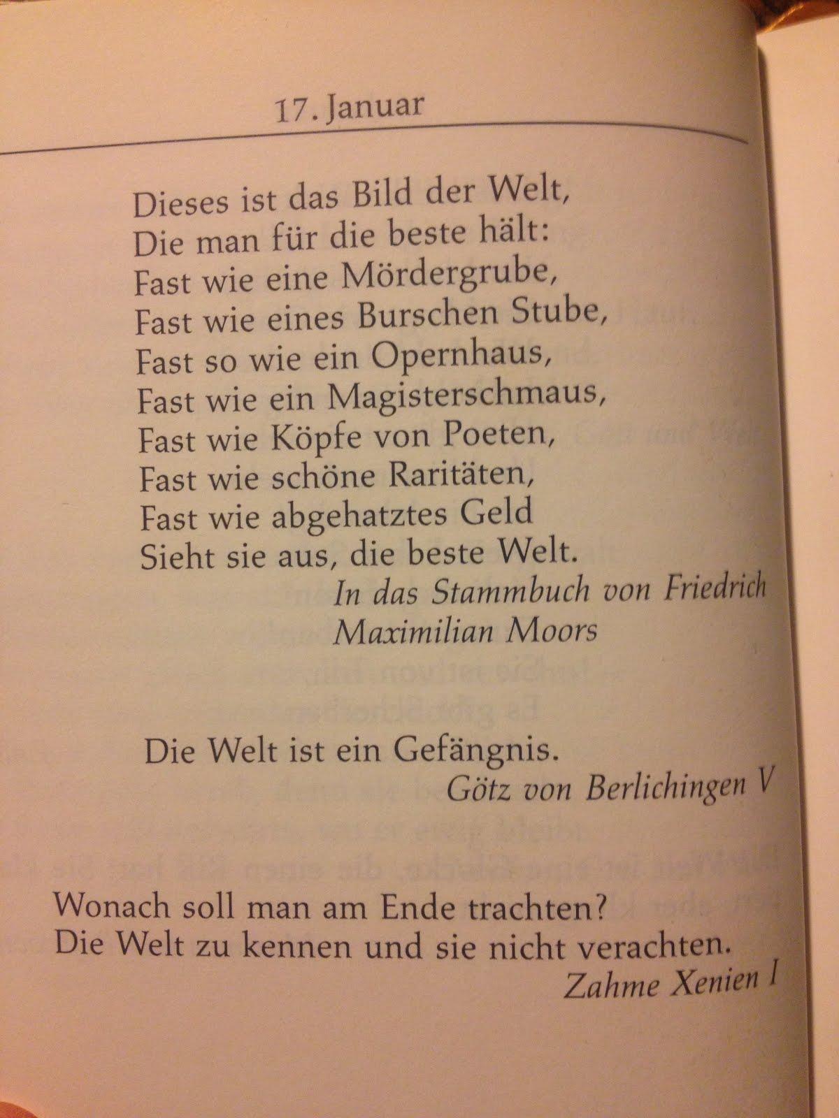 Goethe Fur Jeden Tag