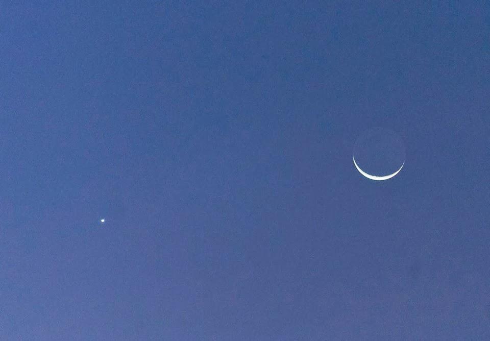 astronomi, gambar bulan dan venus jan 2014, venus jan 2014, taman ira kangar jan 2014, kangar jan 2014,
