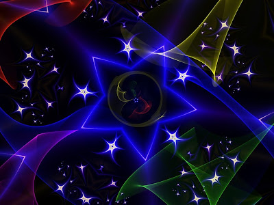 Amazing Rainbow Star Wallpaper