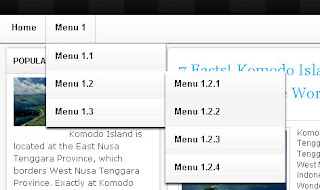 Membuat Menu Horizontal Blogspot