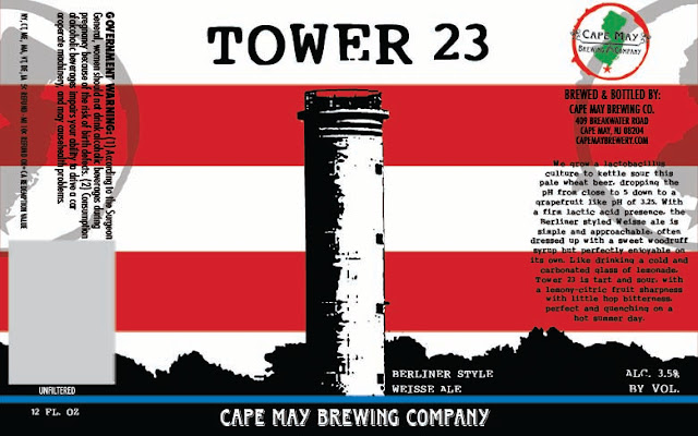 Cape May, Tower 23, Berliner Weisse, New Jersey, Craft Beer