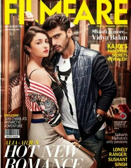 Arjun Kapoor and Alia Bhatt on Filmfare Magazine Cover