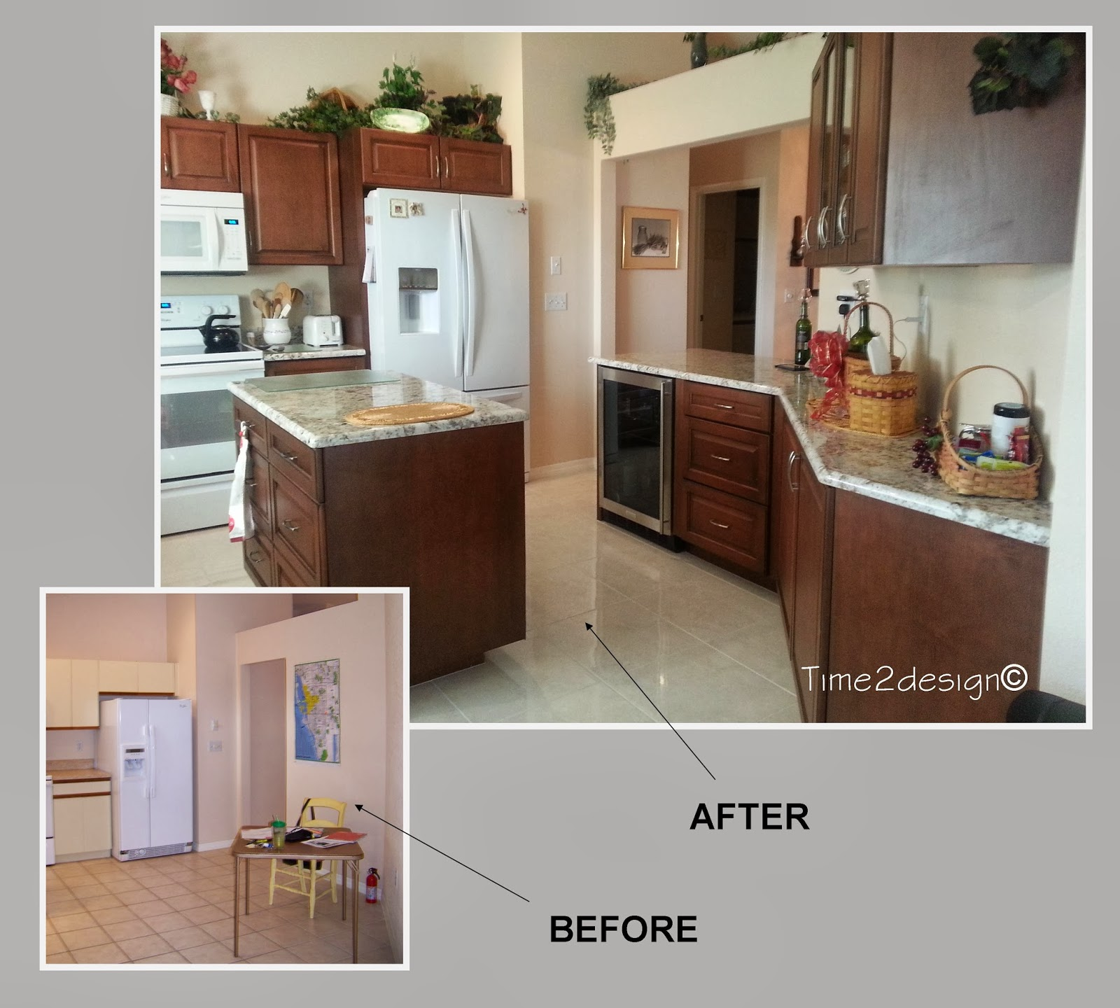 Beau Before And After Kitchen ~ Add An Island And Increase Storage