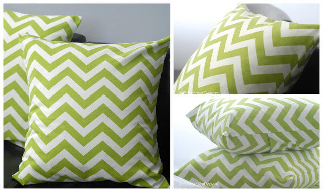 Cotton Duck Fabric: Chevron throw pillows, from shannon sorensen designs