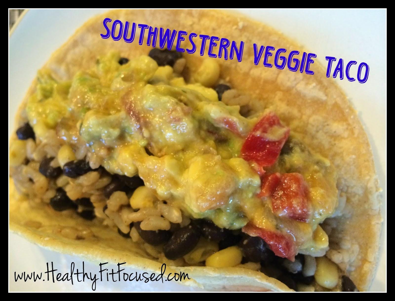 Southwestern Veggie Taco, vegan meal, clean eating, Ultimate Reset Recipe