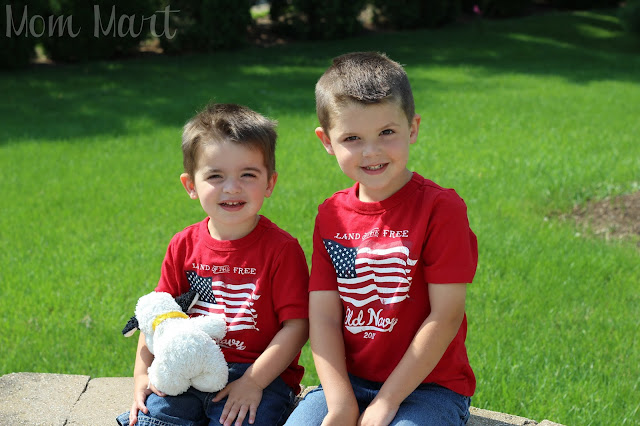 Independence Day Red White and Blue shirts