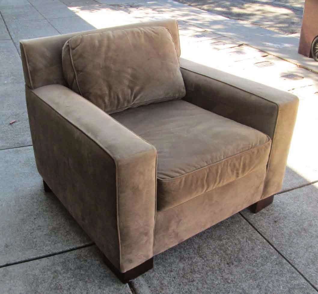 UHURU FURNITURE & COLLECTIBLES: SOLD Plush West Elm Arm Chair - $175