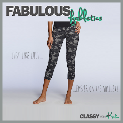 Classy with a Kick: Fabletics Work Out Wear Review Lima Camo Crops