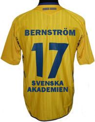 Bengt Bernström i Svenska Akademien: tröja nummer 17.