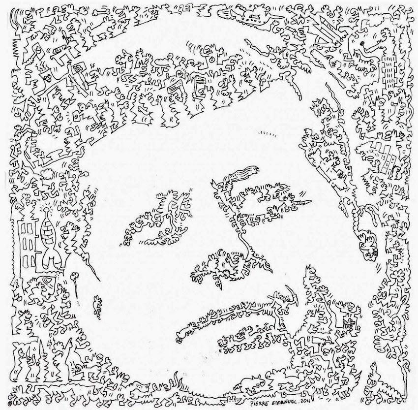 simply creative  single line doodle portraits by pierre emmanuel godet