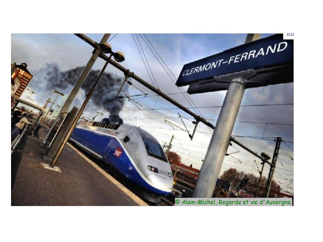 TGV à Clermont-Ferrand.