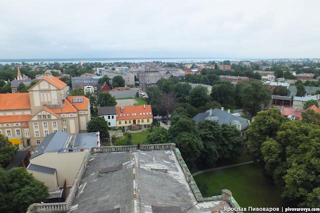 Латвия. Лиепая вид сверху