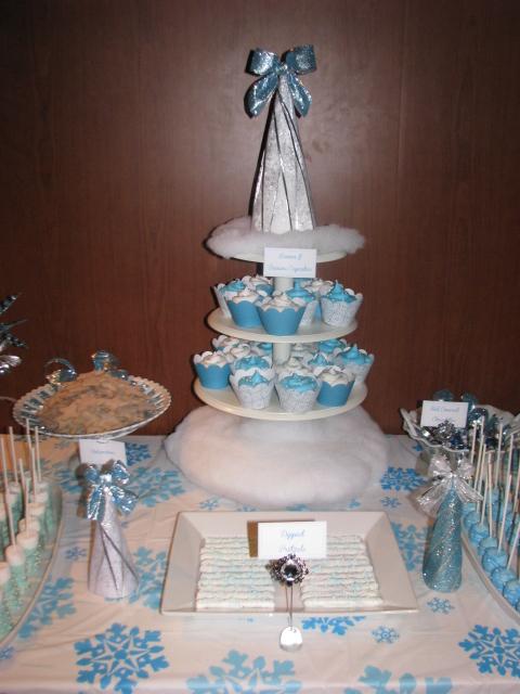 amore cake winter wonderland baby shower