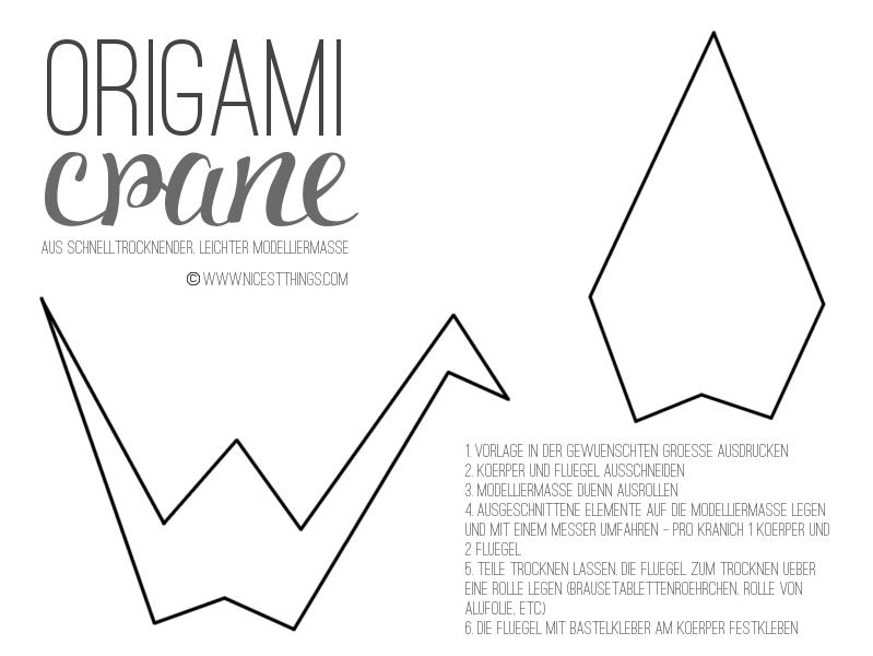 anleitung origami kranich vorlage