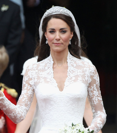 Kate's Wedding Dress on Display