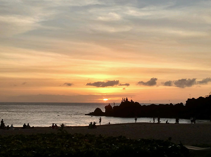 pacific ocean, cliff diving, maui, hawaii, Sheraton Resort in Maui, Sunset in Maui