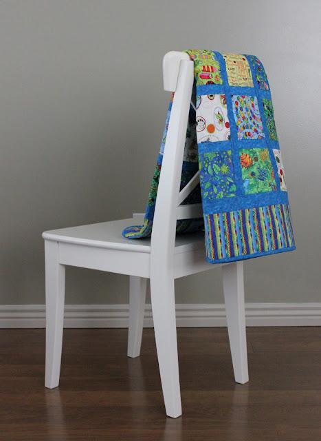 quilt using bug fabrics