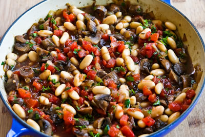 Recipe for Mushroom, White Bean, and Tomato Stew with Parmesan | Kalyn ...