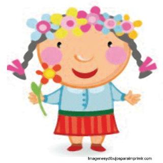 Niñas con flor