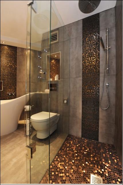 Great Penny Tile Bathroom Shower Floor 429 x 645 · 605 kB · png