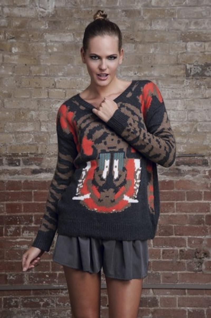 tiger knit design