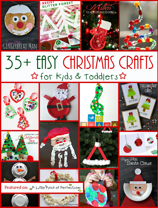 35 easy christmas crafts for kids toddlers a little for Christmas crafts for young children