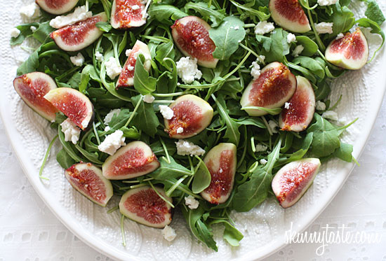 Fresh Fig and Arugula Salad with Goat Cheese | Skinnytaste