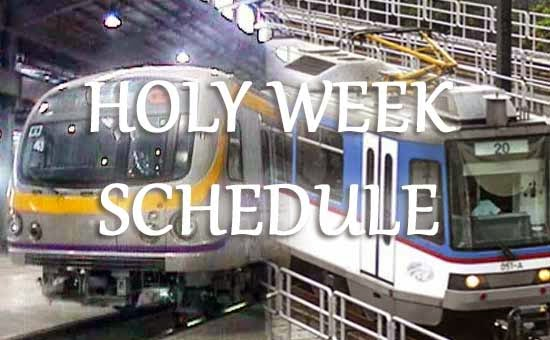 LRT, MRT and PNR Schedule on Holy Week 2015