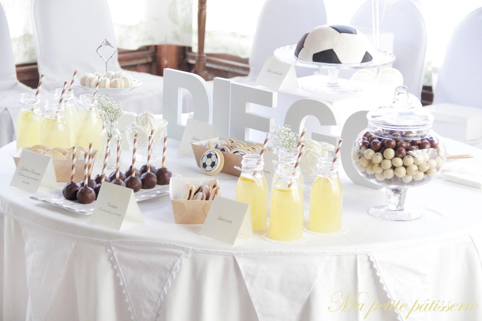 Ma petite patisserie mesas dulces comuni n f tbol y ballet for Mesa dulce para comunion