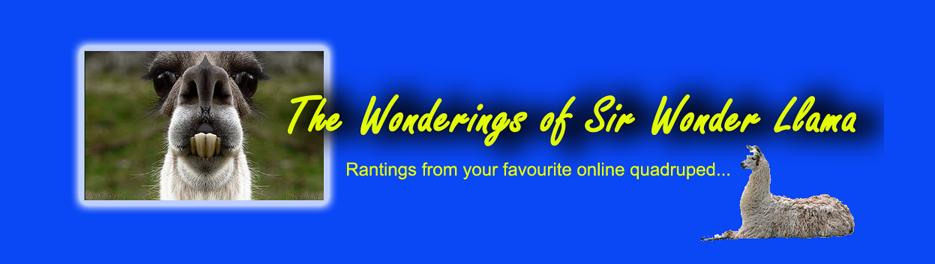 The Wonderings of Sir Wonder Llama