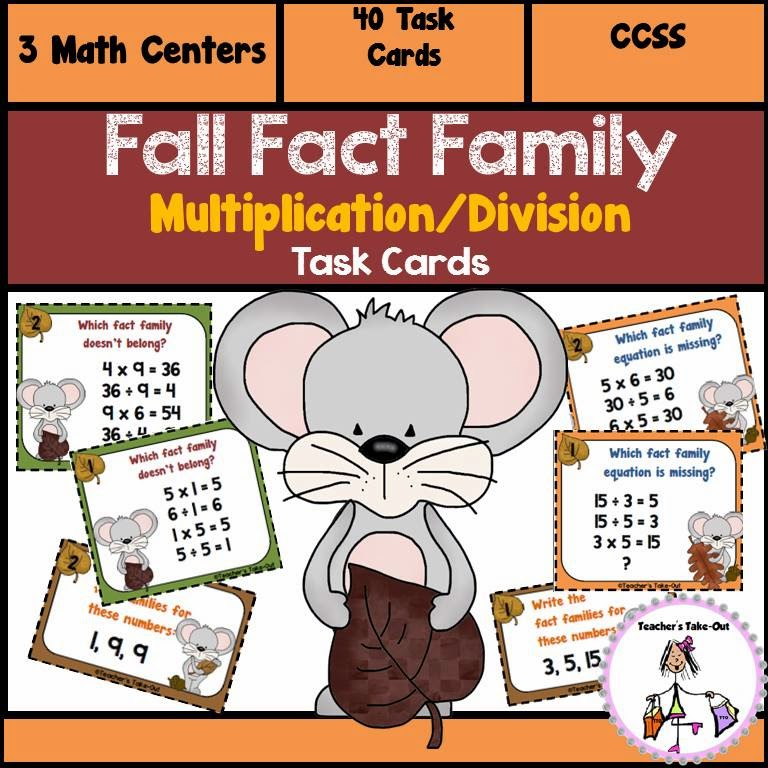 Fall Fact Family Multiplication Division