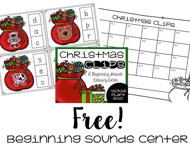 https://www.teacherspayteachers.com/Product/Christmas-Clips-Begining-Sounds-Center-2227470