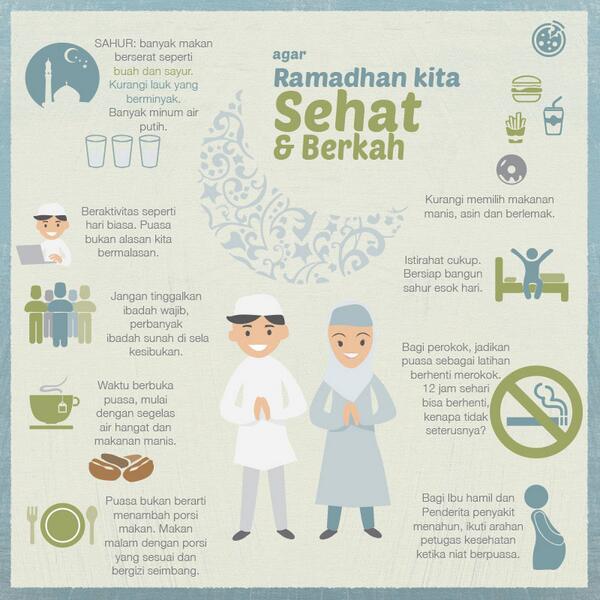 10 Tips Ramadhan Agar Kita Sehat dan Berberkah [Infografik]