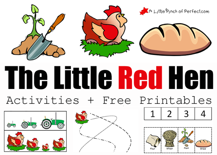 The Little Red Hen Activities on 8 Spring Number Worksheets For Preschoolers